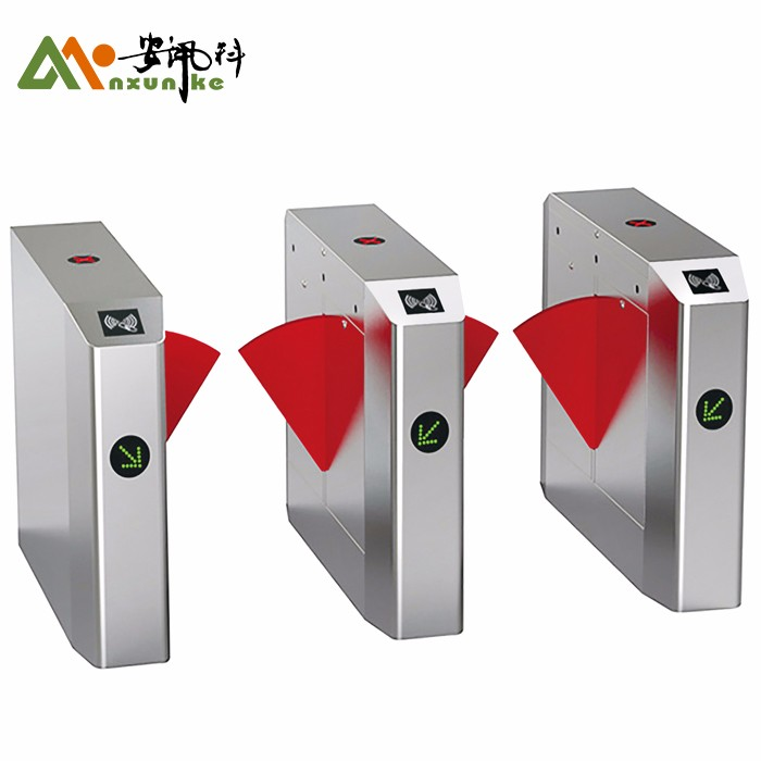 Esd Flap Turnstile System QR Code Reader Wings Gate