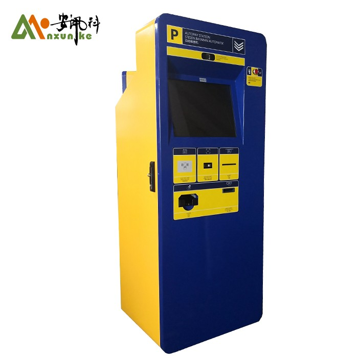 Parking ticket box and payment machine with parking system for parking lot